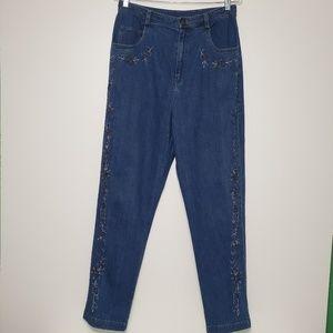 Susan Graver Style 14 High Waist Jeans Beaded